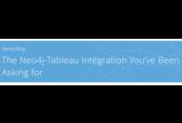 Neo4j-Tableau integration