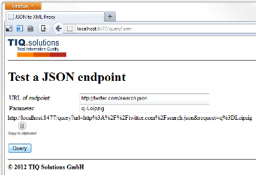 JSON Proxy Server Test