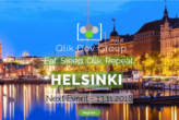 Vortrag zu Advanced Analytics auf dem Qlik Dev Group Event in Helsinki