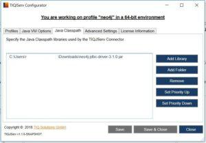 TIQ Java Service Connector for neo4j